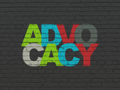 Law concept: Advocacy on wall background — Stock Photo