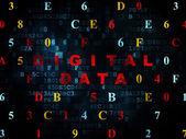 Datenkonzept: Digitale Daten auf digitalen Hintergrund — Stockfoto