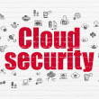 Cloud networking concept: Cloud Security on wall background — Stock Photo #79511084