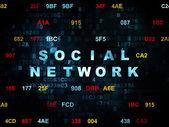 社会的ネットワークの概念: デジタル背景上のソーシャル ネットワーク — ストック写真