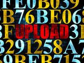 Web development concept: Upload on Digital background — Stock Photo