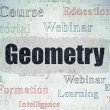 Learning concept: Geometry on Digital Paper background — Stock Photo #79930488