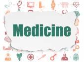 Medicine concept: Medicine on Torn Paper background — Foto Stock