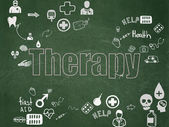 Healthcare concept: Therapy on School Board background — Stock Photo