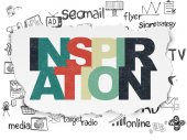Marketing concept: Inspiration on Torn Paper background — Stock Photo