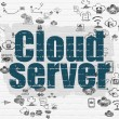 Cloud computing concept: Cloud Server on wall background — Stock Photo #80532108