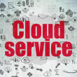 Cloud networking concept: Cloud Service on Digital Paper background — Stock Photo #80532208