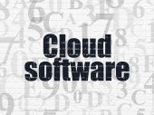 Cloud computing concept: Cloud Software on wall background — Stock fotografie