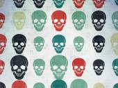 Medicine concept: Scull icons on Digital Paper background — Stock Photo
