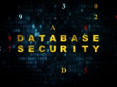 Protection concept: Database Security on Digital background — Stock Photo