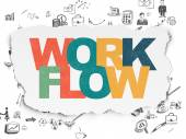 Finance concept: Workflow on Torn Paper background — Stock Photo