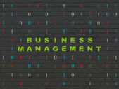 Business concept: Business Management on wall background — Stock Photo