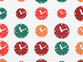 Time concept: Clock icons on wall background — Stock Photo
