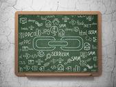 Web development concept: Link on School Board background — Stock Photo