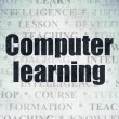 Studying concept: Computer Learning on Digital Paper background — Stock Photo #80914058