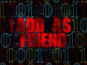 Social network concept: Add as Friend on Digital background — Stock Photo