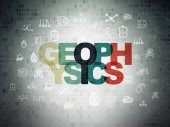 Science concept: Geophysics on Digital Paper background — Stock Photo
