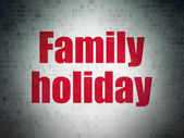 Vacation concept: Family Holiday on Digital Paper background — Stock Photo