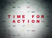 Timeline concept: Time for Action on Digital Paper background — Stock Photo