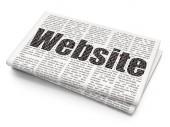 Web design concept: Website on Newspaper background — Stock Photo