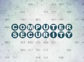 Protection concept: Computer Security on Digital Paper background — Stock Photo