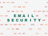 Privacy concept: Email Security on wall background — Stock Photo