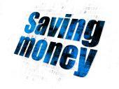Business concept: Saving Money on Digital background — Stock Photo