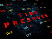 Timeline concept: Time Pressure on Digital background — Stock Photo