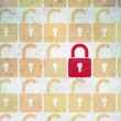 Privacy concept: closed padlock icon on Digital Paper background — Stock Photo #82309280