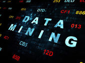 Information concept: Data Mining on Digital background — Stock Photo