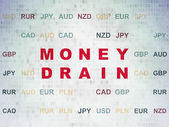 Banking concept: Money Drain on Digital Paper background — Stock Photo