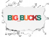 Finance concept: Big bucks on Torn Paper background — Stock Photo