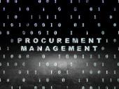 Business concept: Procurement Management in grunge dark room — Stock Photo