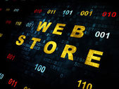 Web development concept: Web Store on Digital background — Stock Photo