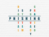 Safety concept: word Phishing in solving Crossword Puzzle — Stock Photo