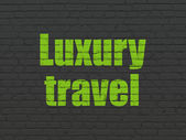 Vacation concept: Luxury Travel on wall background — Stock Photo