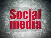 Social network concept: Social Media on Digital Paper background — Stock Photo