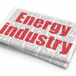 Industry concept: Energy Industry on Newspaper background — Stock Photo #83909100