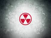 Science concept: Radiation on Digital Paper background — Stock Photo