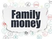 Money concept: Family Money on Torn Paper background — ストック写真