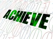 Business concept: Achieve on Digital background — Stock Photo