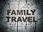 Travel concept: circuit board with Family Travel — Stock Photo