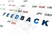 Finance concept: Feedback on Digital background — Stock Photo