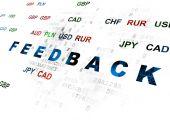 Finance concept: Feedback on Digital background — Stockfoto