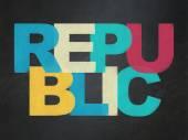 Politics concept: Republic on School Board background — Stock Photo