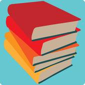 Ícone de livros empilhados — Vetor de Stock