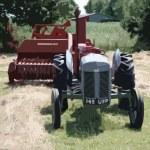 Old vintage little grey fergie ferguson tractor farm equipment — Stock Photo #65673267