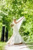 Bride of apple blossom — Stock Photo