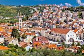 Town of Hvar famous Pjaca square view — Stock Photo