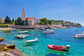 Turquoise sea of Hvar island — Stock Photo